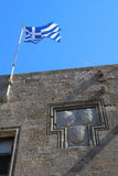Coat of arms in Rhodes city, Greece Stock Photography