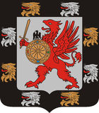 Coat of arms of the Romanov dinasty Stock Image