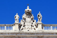 Coat of arms in the Royal Palace, Madrid Stock Image