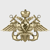 Coat of arms of the Russian fleet Royalty Free Stock Photography