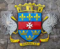 The coat of arms of Saint Barthelemy (St. Barths). Stock Image