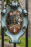 Coat of Arms of Saint Patrick Cathedral, Dublin Ireland. Royalty Free Stock Photography