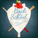 Coat of arms with school supplies. EPS 10 Stock Photography