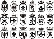 Coat of Arms set. Heraldic element coat of arms Royalty Free Stock Images