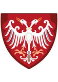 Coat of Arms on Sheld. Coat of arms eagle shield vector orthodox Royalty Free Stock Photography