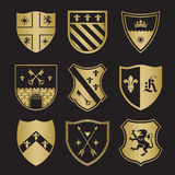 Coat of arms silhouettes Stock Photos