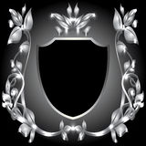 Coat of arms  silver monogram Royalty Free Stock Photo