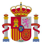 Coat of arms of Spain. Vector illustration Royalty Free Stock Photo