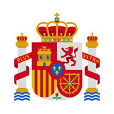 Coat of arms of Spain Royalty Free Stock Photos