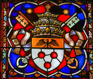 Coat of Arms - Stained Glass in Mechelen Cathedral Stock Images