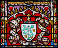 Coat of Arms - Stained Glass in Sablon Church, Brussels Stock Photography