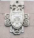 Coat of arms statue of El Cid in Burgos, Spain Stock Photography