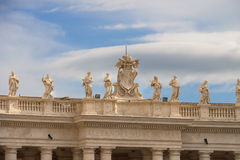 Coat of arms and statues in the Vatican. Rome, Italy Stock Photography