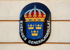 Coat of arms of Sweden Royalty Free Stock Photography