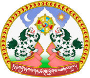 Coat of arms of Tibet Stock Photos
