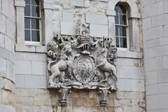 Coat of Arms at the Tower of London Gate Royalty Free Stock Image
