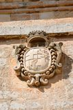 Town gate coat of arms, Mdina. Royalty Free Stock Photography