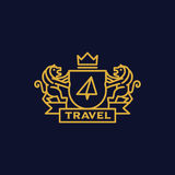 Coat of Arms Travel. Coat of arms for travel business Royalty Free Stock Image