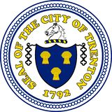 Coat of arms of Trenton in California, United States royalty free illustration