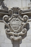 The coat of arms of the Trinity Column, Budapest. Royalty Free Stock Photos