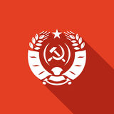 Coat of arms USSR icon. Vector Illustration. Royalty Free Stock Image