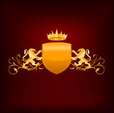 Coat of arms vector Royalty Free Stock Images
