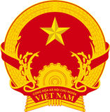 Coat of arms of Vietnam Stock Photo