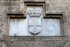 Coat of arms on wall Royalty Free Stock Images