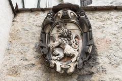 Coat of arms on the wall. In Salzburg Austria Stock Photography