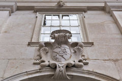Coat of Arms on the wall, Salzburg Cathedral, Austria. Stock Photos