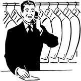 Coat Check Clerk Royalty Free Stock Photography