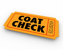 Coat Check Party Event Restaurant Ticket Service Stock Image
