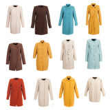 Coat Collection On The Background Royalty Free Stock Photography
