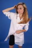 coat den sköt medicinska modellen för mode Royaltyfri Fotografi