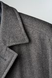 Coat detail. Detail of a high-quality wool winter coat Stock Photos