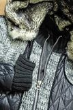 Coat with different texture Stock Image