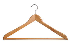Coat Hanger. Isolated over white background Stock Photography