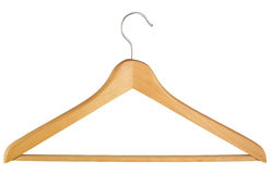 Coat hanger. Isolated over white background Royalty Free Stock Images