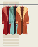 Coat on a hanger Royalty Free Stock Photography