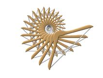 Coat hanger. Spiral placement isolated royalty free illustration