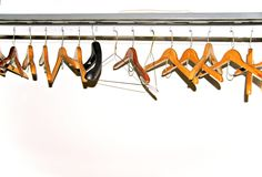 Coat Hanger. A coat rack in a public facility Stock Photography