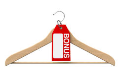Coat Hanger with Bonus Tag Royalty Free Stock Images