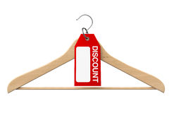 Coat Hanger with Discount Tag Stock Images