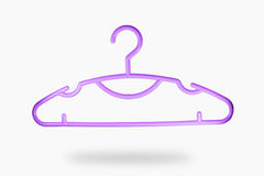 Coat hanger. Isolate purple coat hanger in white background royalty free stock images