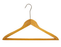 Coat hanger isolated Stock Images