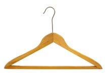 Coat hanger isolated. Coat hanger made of wood isolated on white background Stock Images