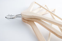 Coat hanger isolated Royalty Free Stock Images