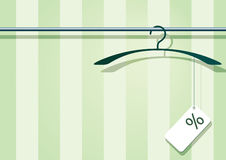 Coat-hanger with label Stock Photos