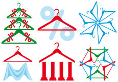 Coat hanger - sale symbol Stock Image