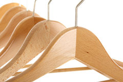 Coat hangers Stock Photo